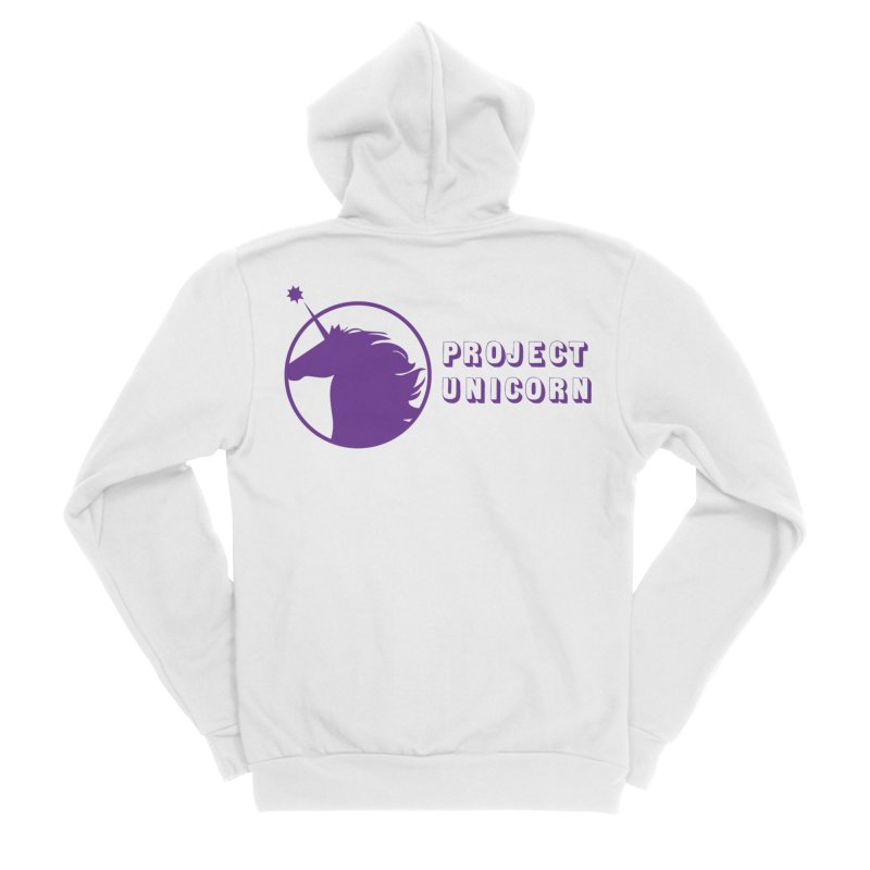 Project Unicorn Logo with text Women's Sponge Fleece Zip-Up Hoody by bornjustright's Artist Shop