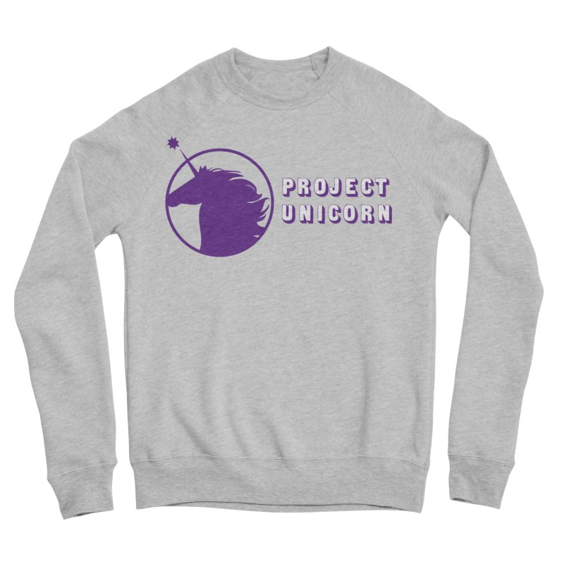 Project Unicorn Logo with text Women's Sponge Fleece Sweatshirt by bornjustright's Artist Shop