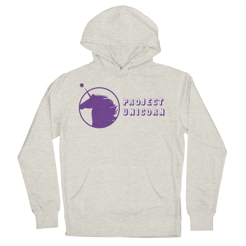 Project Unicorn Logo with text Men's French Terry Pullover Hoody by bornjustright's Artist Shop