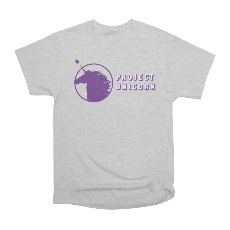 Project Unicorn Logo with text Women's Heavyweight Unisex T-Shirt by bornjustright's Artist Shop