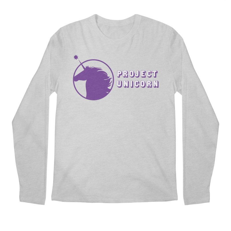 Project Unicorn Logo with text Men's Regular Longsleeve T-Shirt by bornjustright's Artist Shop