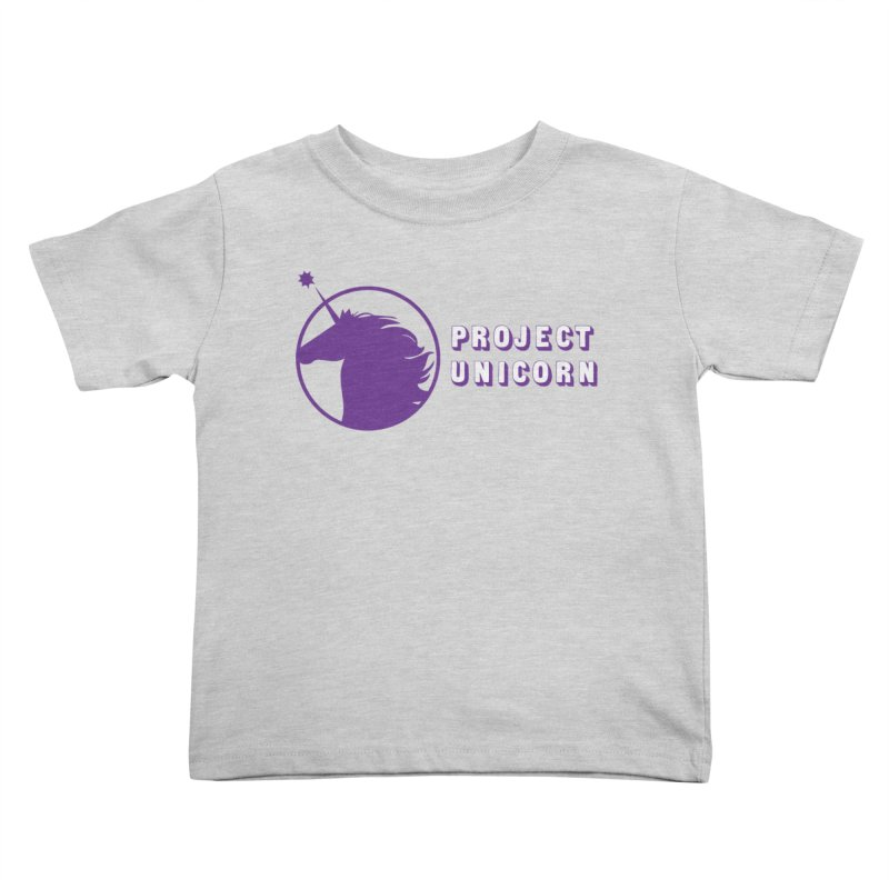 Project Unicorn Logo with text Kids Toddler T-Shirt by bornjustright's Artist Shop