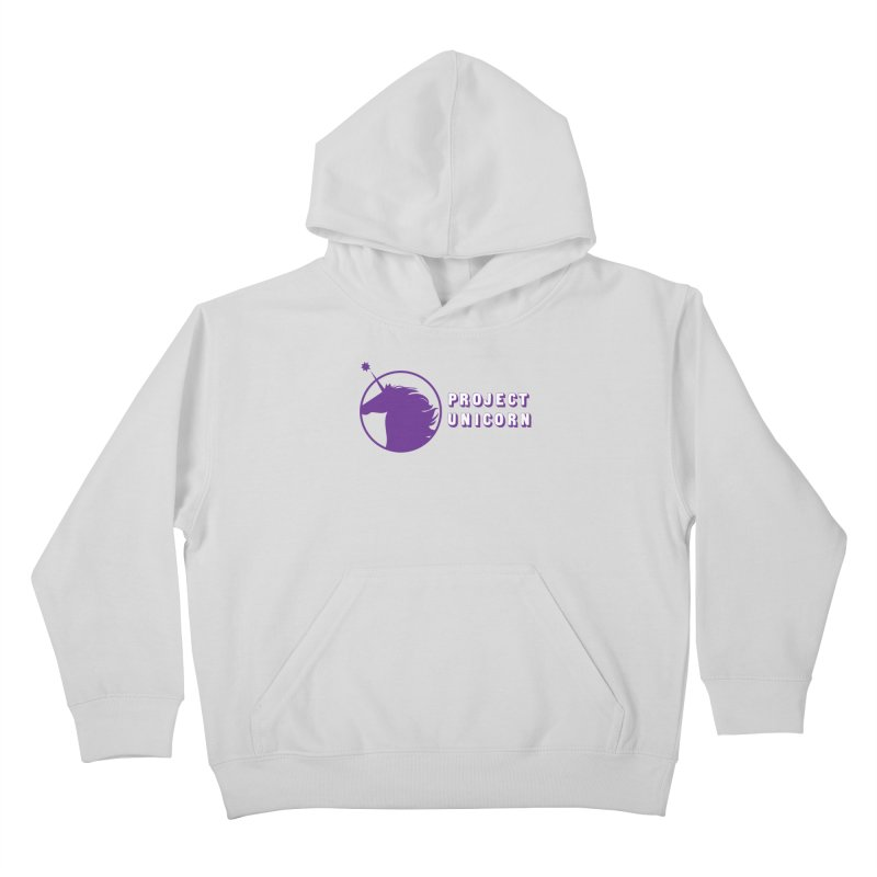 Project Unicorn Logo with text Kids Pullover Hoody by bornjustright's Artist Shop