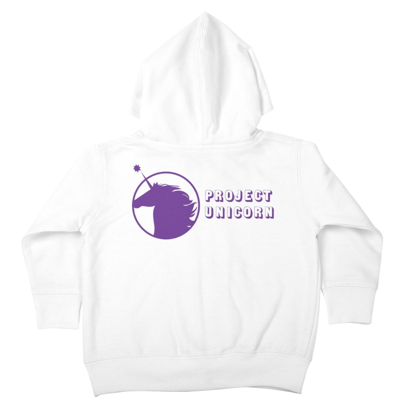 Project Unicorn Logo with text Kids Toddler Zip-Up Hoody by bornjustright's Artist Shop