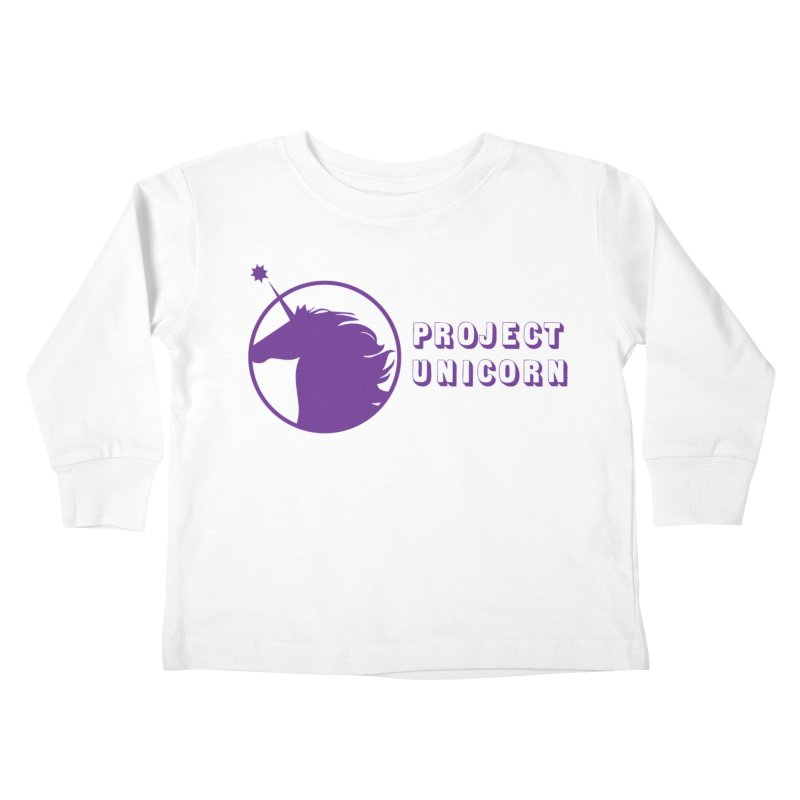 Project Unicorn Logo with text Kids Toddler Longsleeve T-Shirt by bornjustright's Artist Shop
