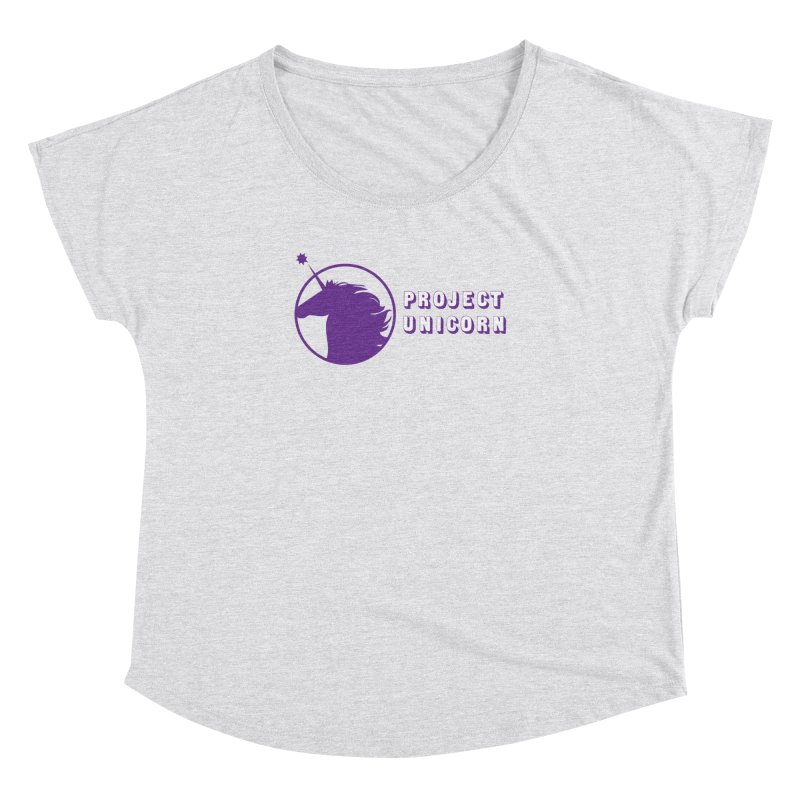 Project Unicorn Logo with text Women's Dolman Scoop Neck by bornjustright's Artist Shop