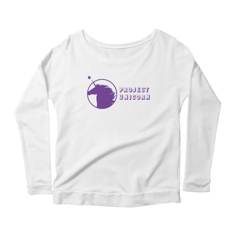 Project Unicorn Logo with text Women's Scoop Neck Longsleeve T-Shirt by bornjustright's Artist Shop