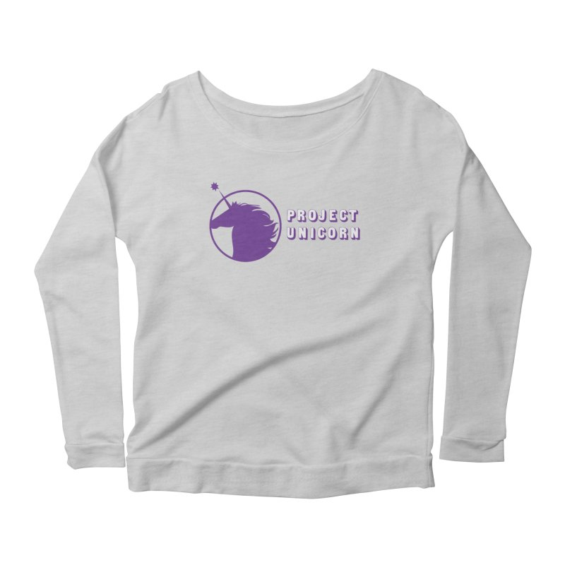 Project Unicorn Logo with text Women's Longsleeve T-Shirt by bornjustright's Artist Shop