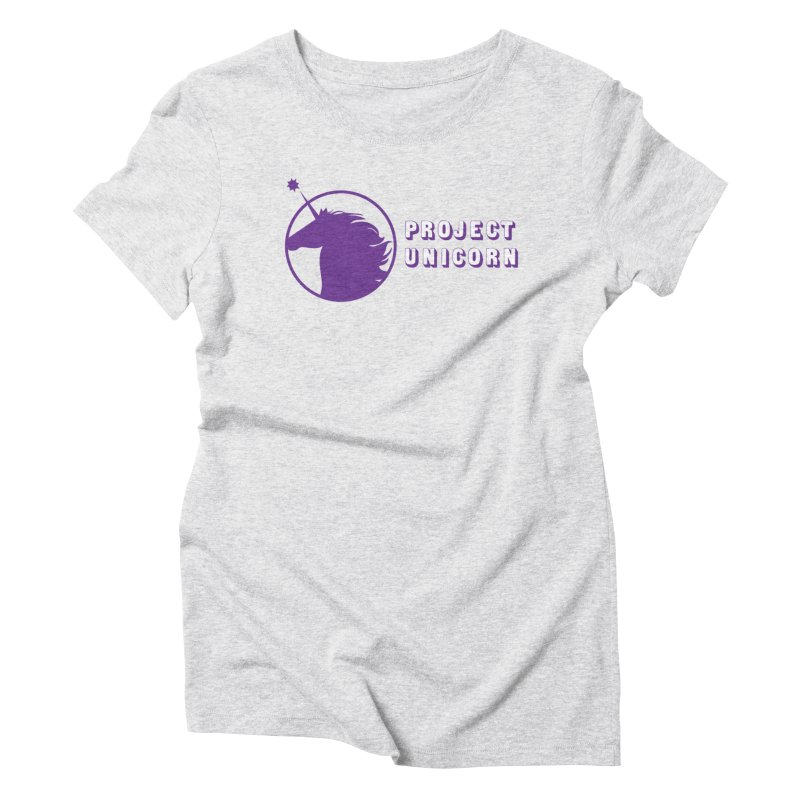 Project Unicorn Logo with text Women's Triblend T-Shirt by bornjustright's Artist Shop