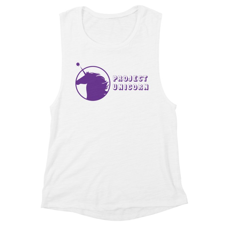 Project Unicorn Logo with text Women's Muscle Tank by bornjustright's Artist Shop
