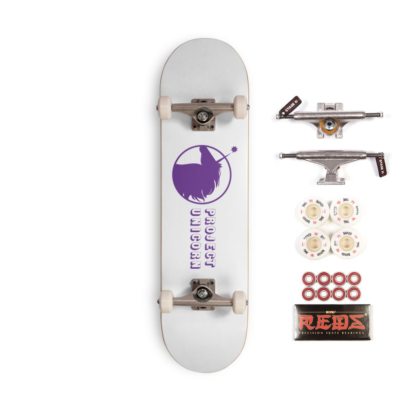 Project Unicorn Logo with text Accessories Complete - Pro Skateboard by bornjustright's Artist Shop