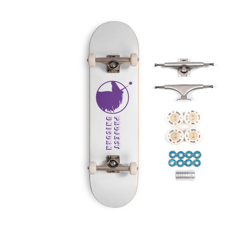 Project Unicorn Logo with text Accessories Complete - Premium Skateboard by bornjustright's Artist Shop