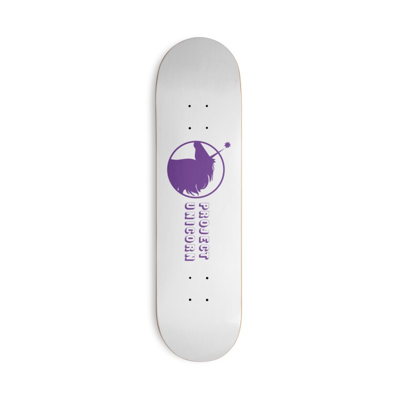 Project Unicorn Logo with text Accessories Deck Only Skateboard by bornjustright's Artist Shop
