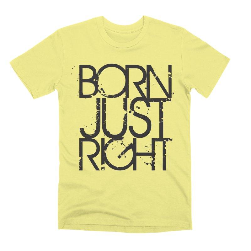 BJR Spray paint Men's Premium T-Shirt by bornjustright's Artist Shop