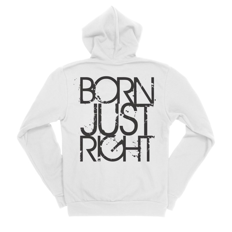 BJR Spray paint Women's Sponge Fleece Zip-Up Hoody by bornjustright's Artist Shop