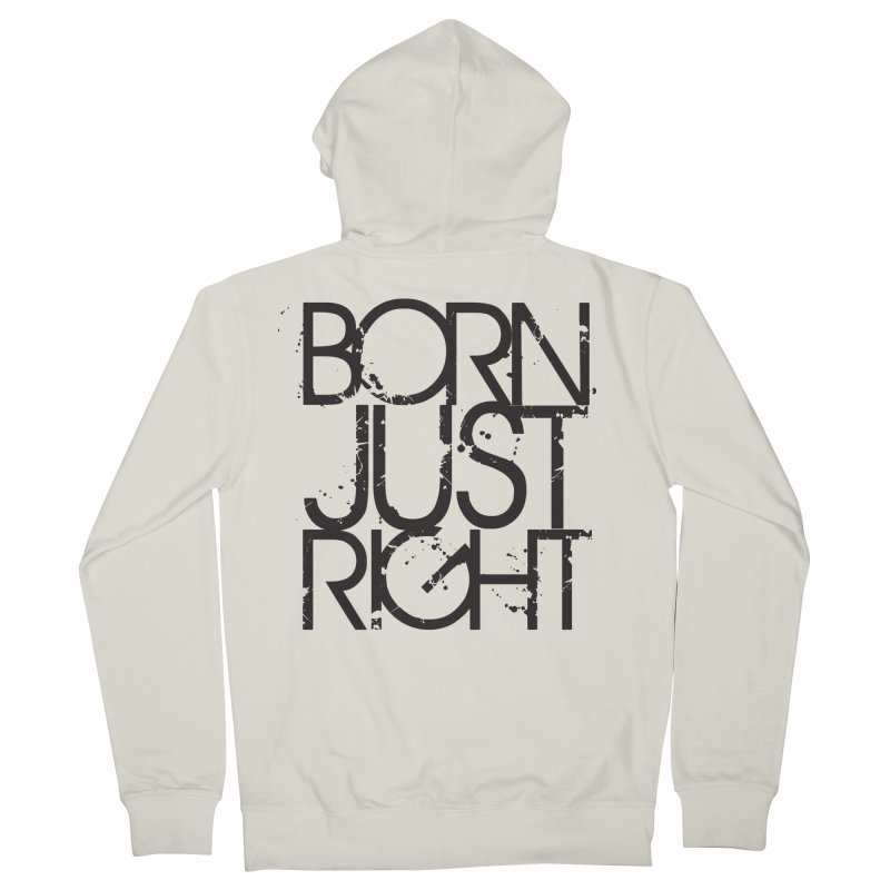 BJR Spray paint Men's French Terry Zip-Up Hoody by bornjustright's Artist Shop
