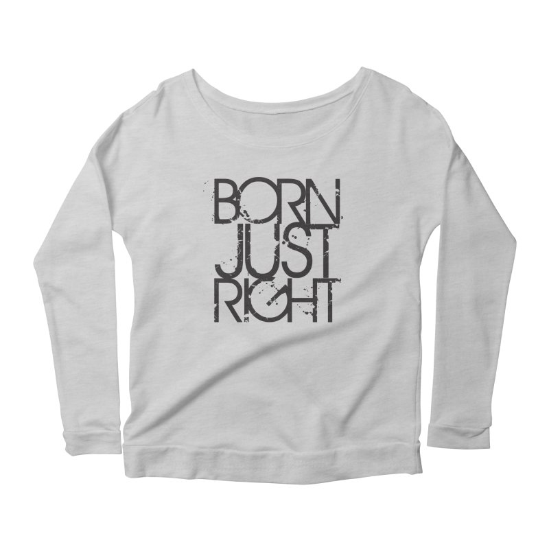 BJR Spray paint Women's Scoop Neck Longsleeve T-Shirt by bornjustright's Artist Shop