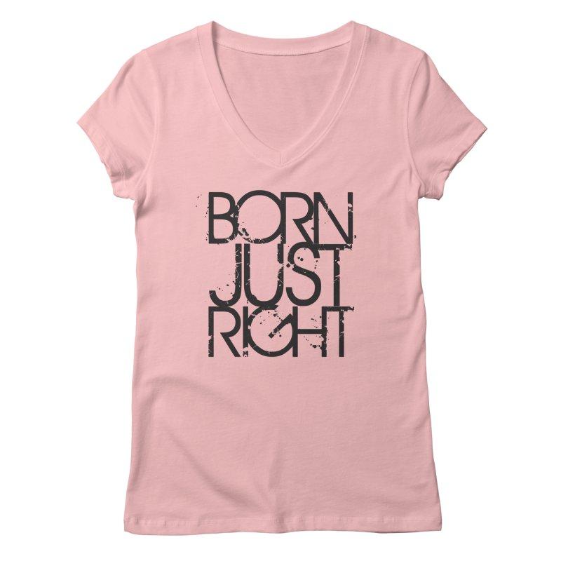 BJR Spray paint Women's Regular V-Neck by bornjustright's Artist Shop