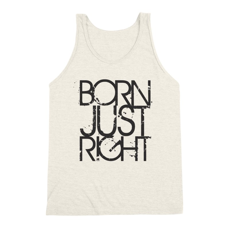 BJR Spray paint Men's Triblend Tank by bornjustright's Artist Shop