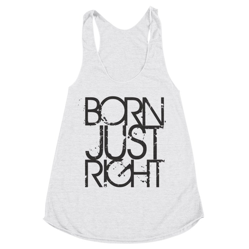 BJR Spray paint Women's Racerback Triblend Tank by bornjustright's Artist Shop