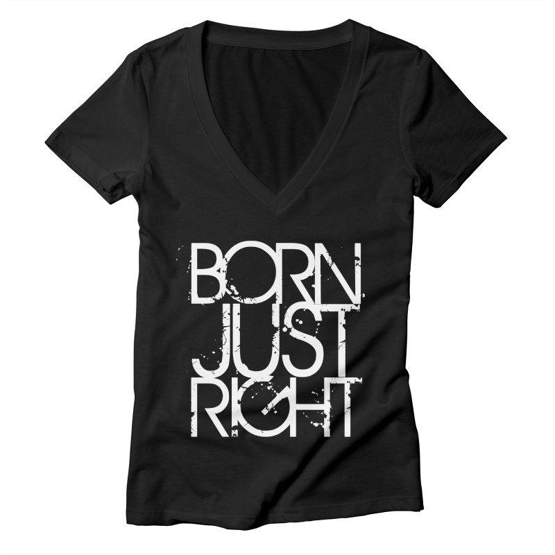 BJR Spray paint white Women's V-Neck by bornjustright's Artist Shop