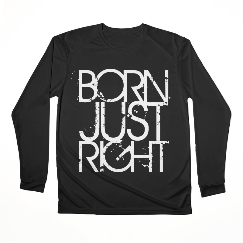 BJR Spray paint white Women's Performance Unisex Longsleeve T-Shirt by bornjustright's Artist Shop