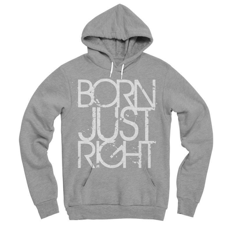 BJR Spray paint white Women's Sponge Fleece Pullover Hoody by bornjustright's Artist Shop