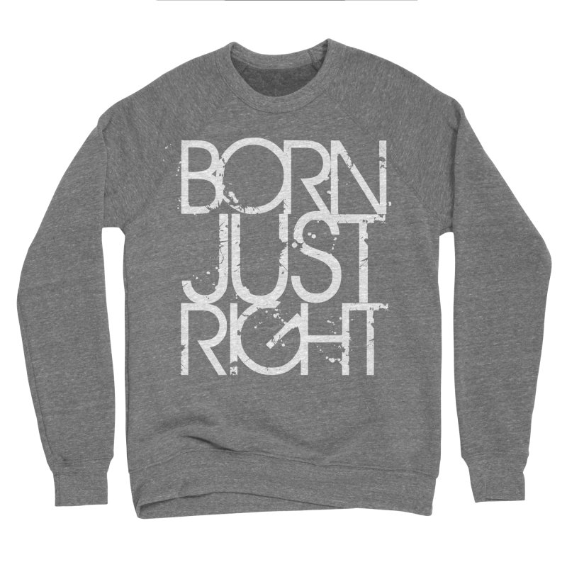 BJR Spray paint white Women's Sponge Fleece Sweatshirt by bornjustright's Artist Shop