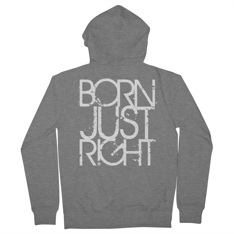 BJR Spray paint white Men's French Terry Zip-Up Hoody by bornjustright's Artist Shop