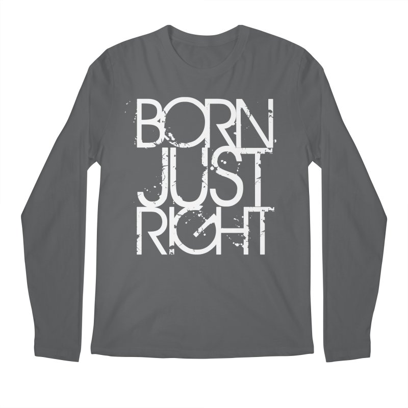 BJR Spray paint white Men's Regular Longsleeve T-Shirt by bornjustright's Artist Shop