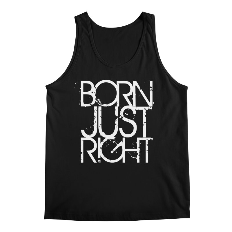 BJR Spray paint white Men's Regular Tank by bornjustright's Artist Shop
