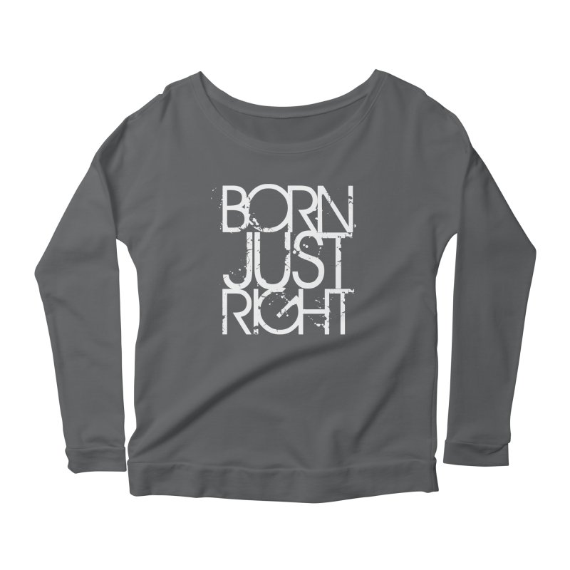 BJR Spray paint white Women's Scoop Neck Longsleeve T-Shirt by bornjustright's Artist Shop