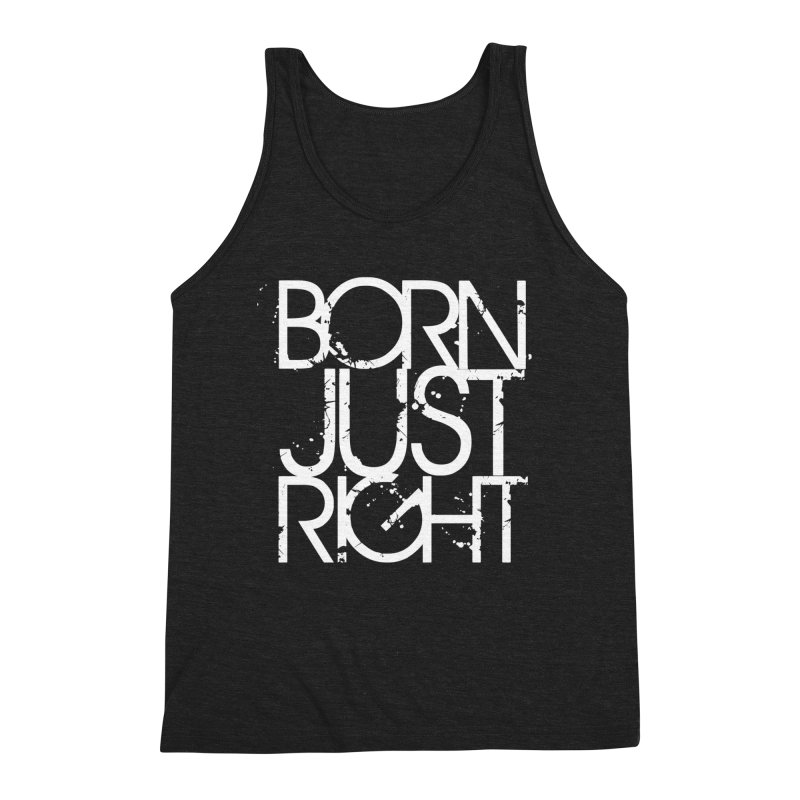 BJR Spray paint white Men's Triblend Tank by bornjustright's Artist Shop