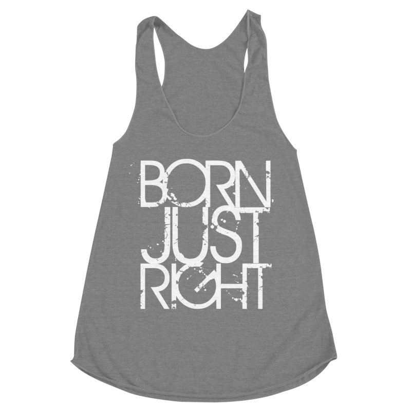 BJR Spray paint white Women's Racerback Triblend Tank by bornjustright's Artist Shop