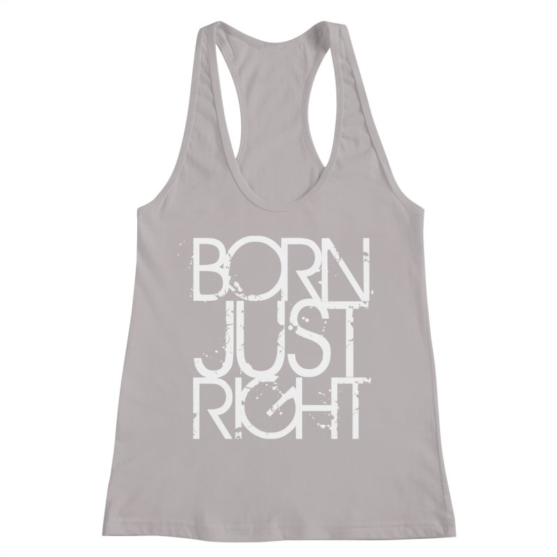 BJR Spray paint white Women's Racerback Tank by bornjustright's Artist Shop