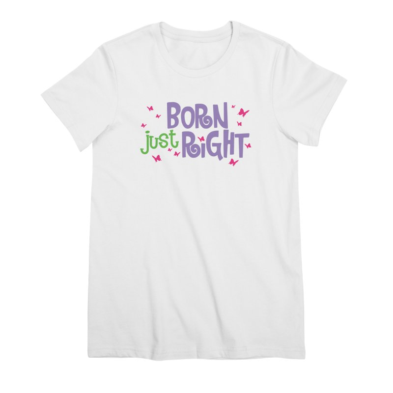 BJR Butterfly Women's Premium T-Shirt by bornjustright's Artist Shop