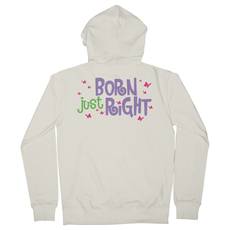 BJR Butterfly Men's French Terry Zip-Up Hoody by bornjustright's Artist Shop