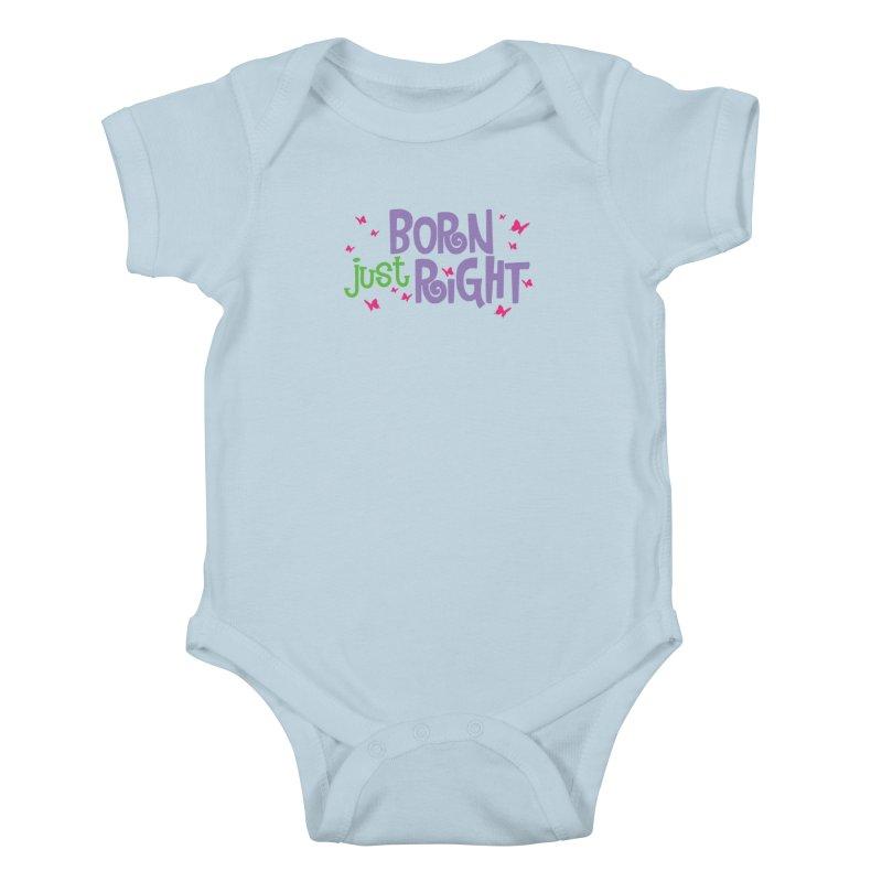 BJR Butterfly Kids Baby Bodysuit by bornjustright's Artist Shop