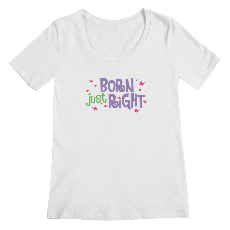BJR Butterfly Women's Regular Scoop Neck by bornjustright's Artist Shop