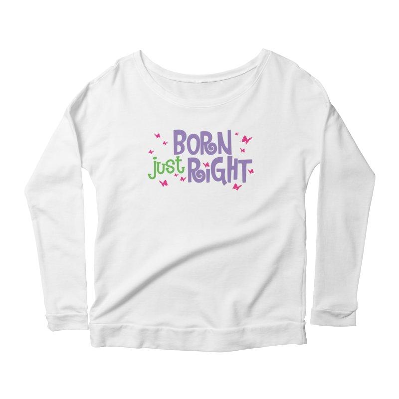 BJR Butterfly Women's Scoop Neck Longsleeve T-Shirt by bornjustright's Artist Shop