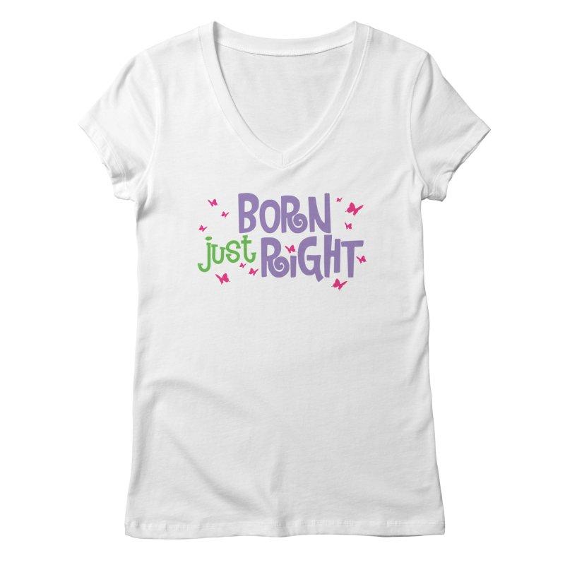 BJR Butterfly Women's Regular V-Neck by bornjustright's Artist Shop