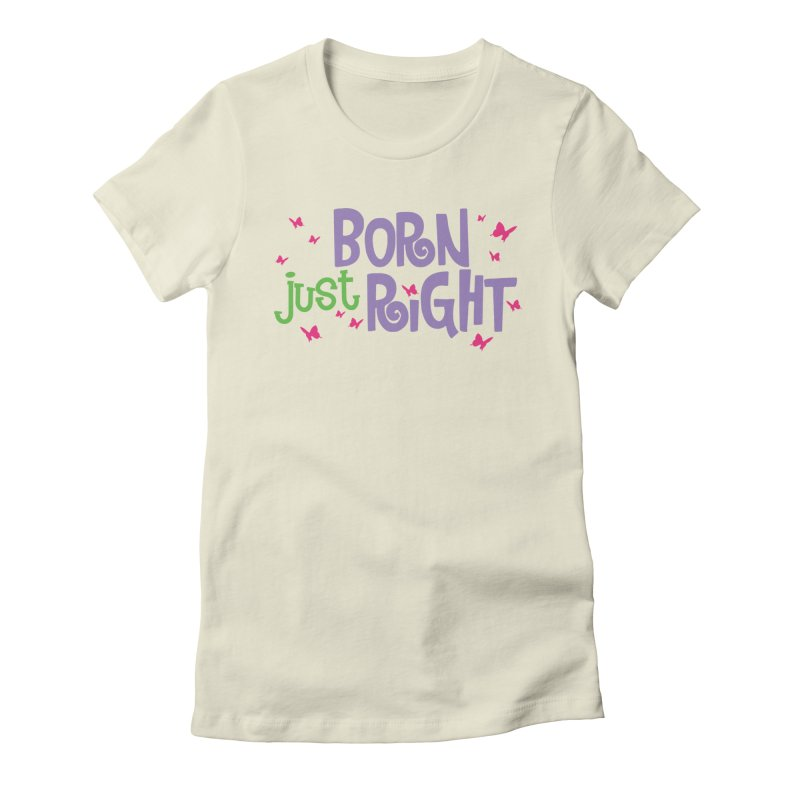 BJR Butterfly Women's Fitted T-Shirt by bornjustright's Artist Shop