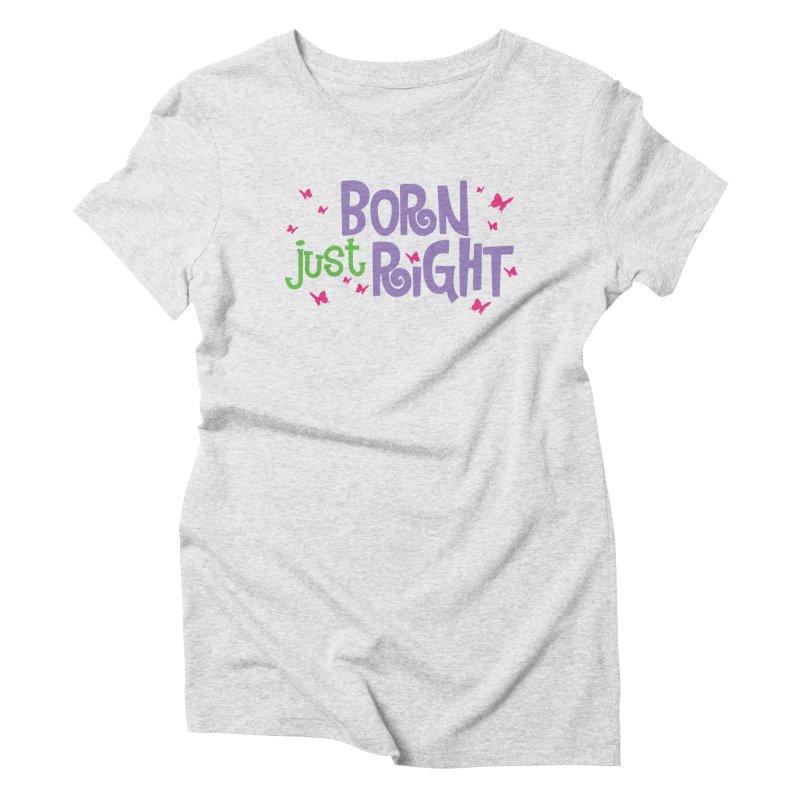 BJR Butterfly Women's Triblend T-Shirt by bornjustright's Artist Shop