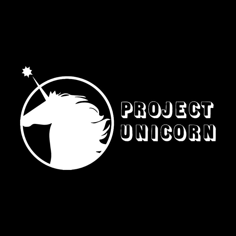 Project Unicorn Logo with text white Men's Sweatshirt by bornjustright's Artist Shop