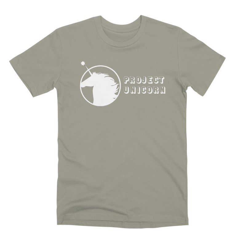 Project Unicorn Logo with text white Men's Premium T-Shirt by bornjustright's Artist Shop