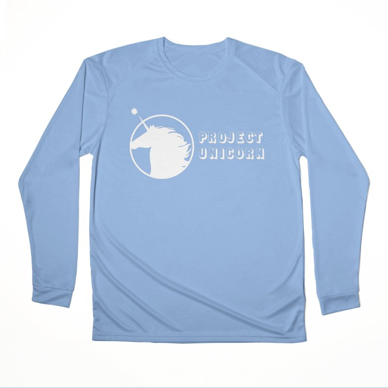 Project Unicorn Logo with text white Men's Performance Longsleeve T-Shirt by bornjustright's Artist Shop