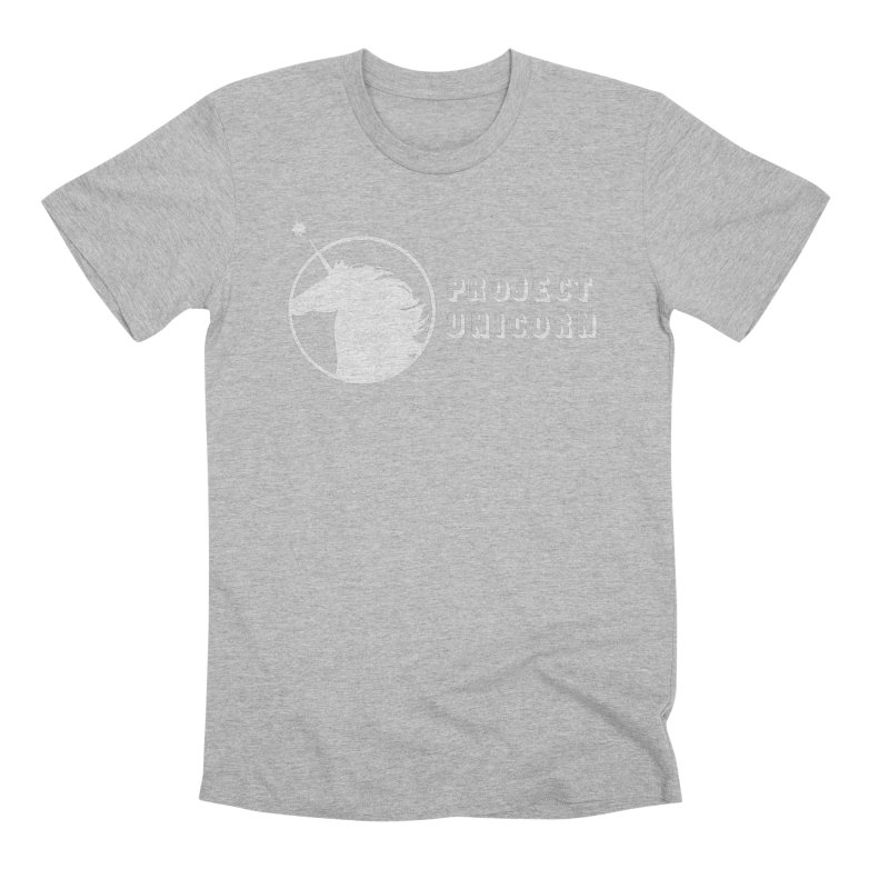 Project Unicorn Logo with text white Men's T-Shirt by bornjustright's Artist Shop