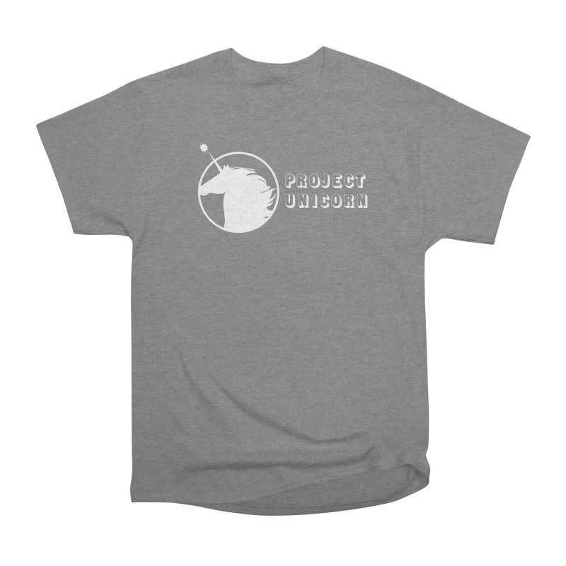 Project Unicorn Logo with text white Women's T-Shirt by bornjustright's Artist Shop