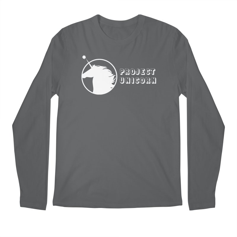 Project Unicorn Logo with text white Men's Longsleeve T-Shirt by bornjustright's Artist Shop