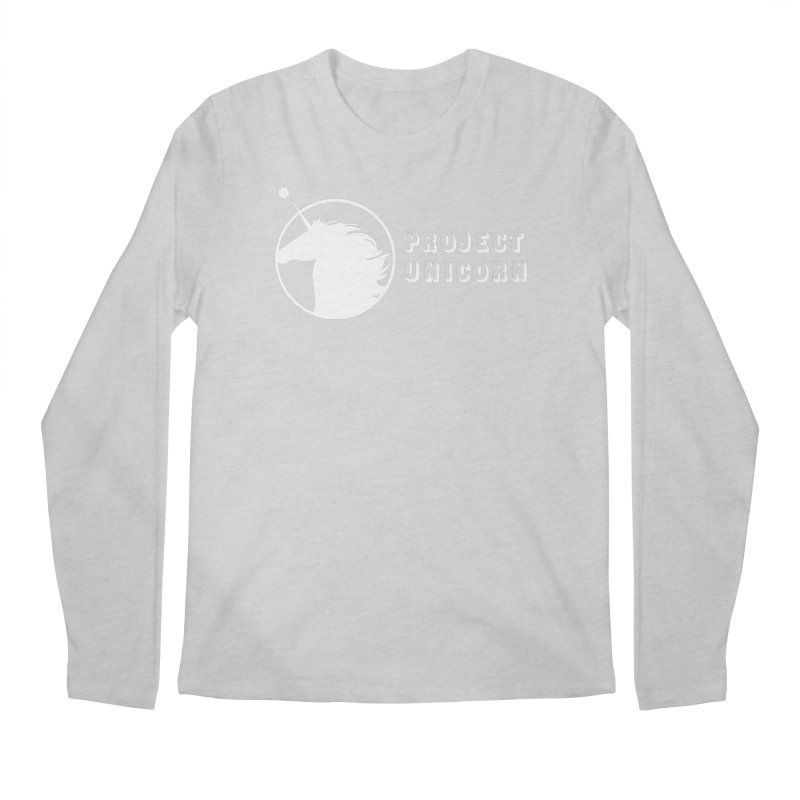 Project Unicorn Logo with text white Men's Regular Longsleeve T-Shirt by bornjustright's Artist Shop